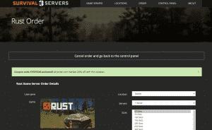 Survival Servers hosting