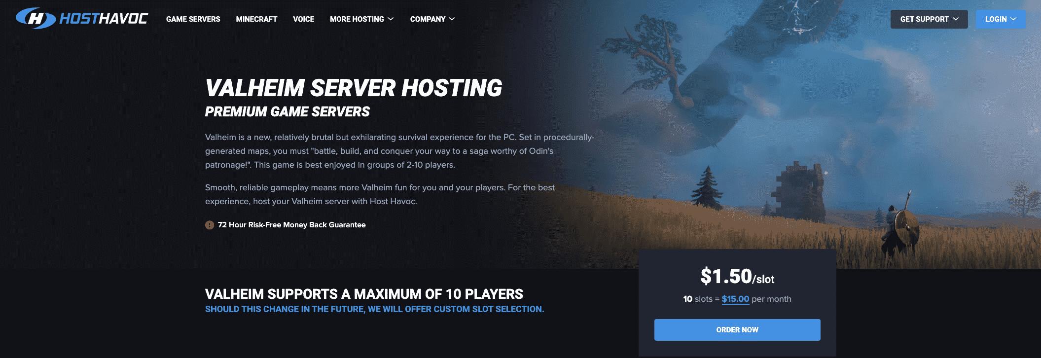 Host Havoc Valheim Server Hosting
