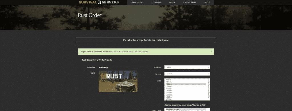Survival Servers Rust Hosting
